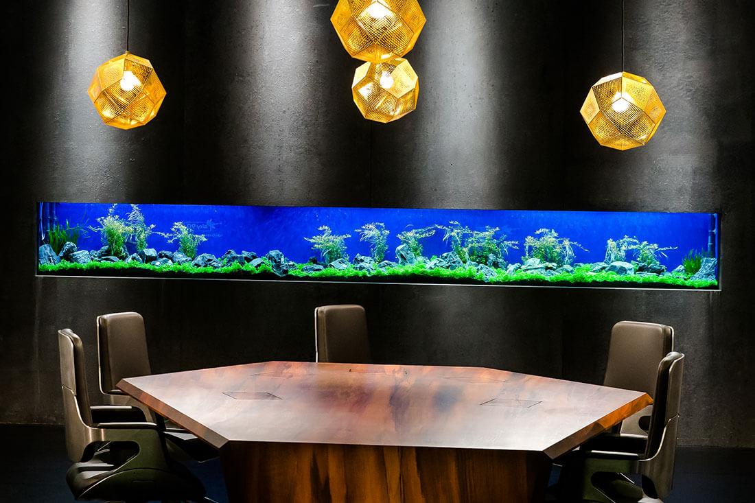 Aquarium im Bundesliga Studio