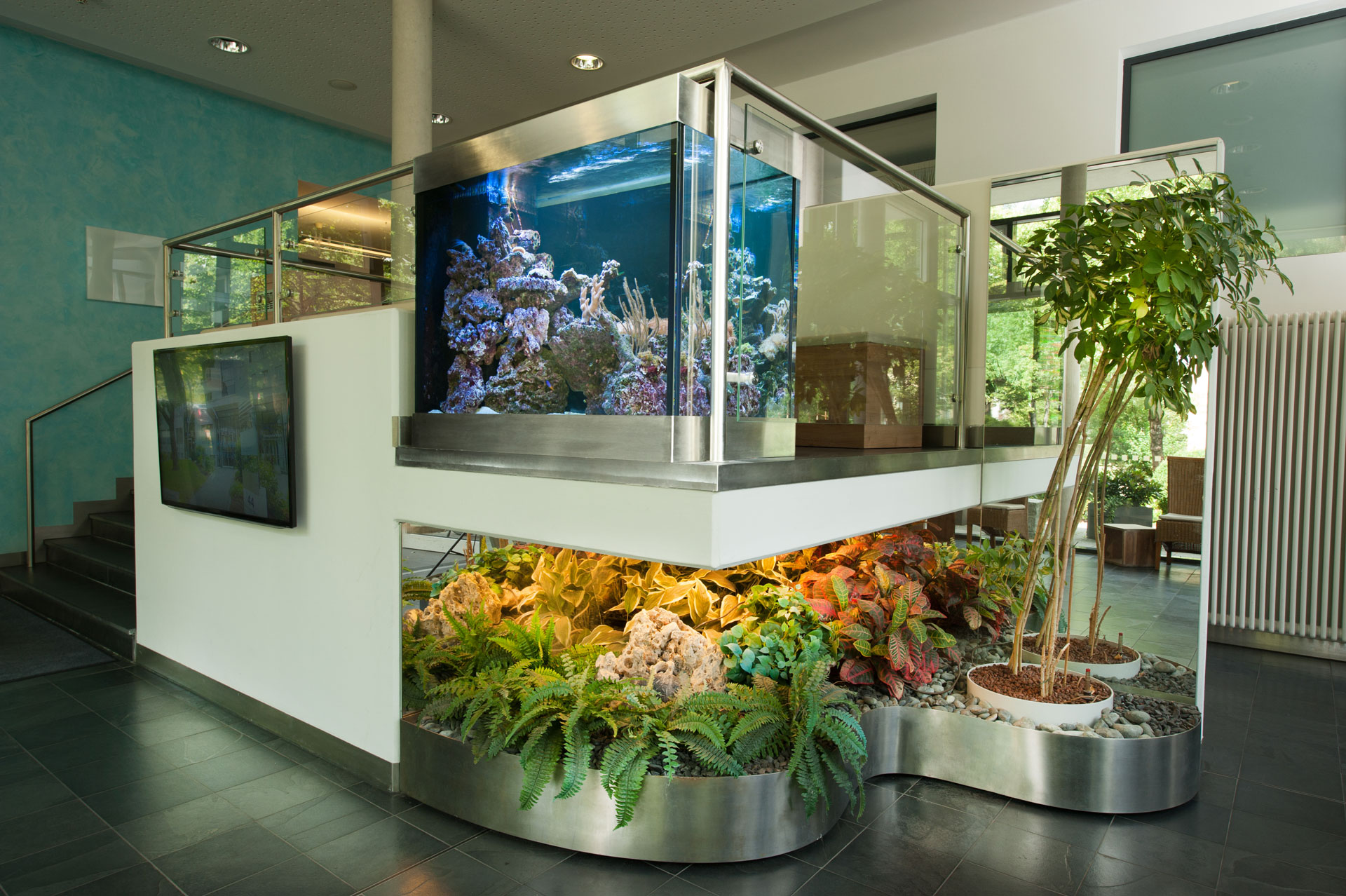 Aquarium in Wartezone