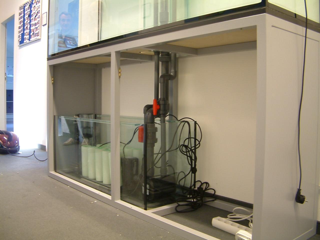 Technikbecken im Meerwasseraquarium Aquariumbau München